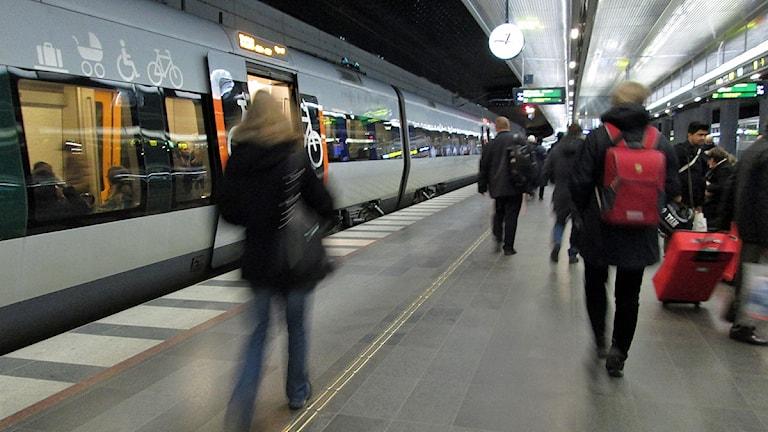 Öresundståg på Malmö central.  Foto: Anna Bubenko/Sveriges Radio