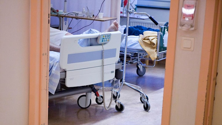 Patient på akuten. Foto: Bertil Ericson / Scanpix