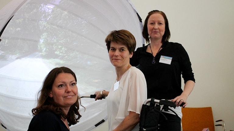 Anna Jungqvist, MAS, Hörby kommun, Katrin Nilsson, enhetschef i hemtjänsten, Hörby kommun och Rose-Marie Beming, Användarföreningen