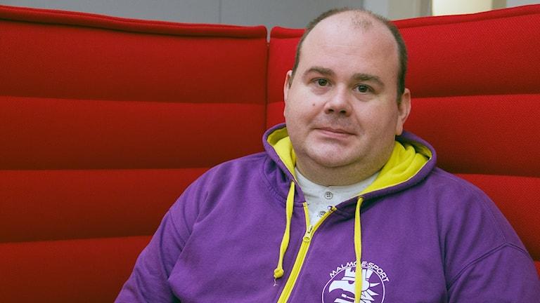 Chris Jonasson, ordförande i Malmö e-sport. Foto: Hans Zillén/Sveriges Radio.