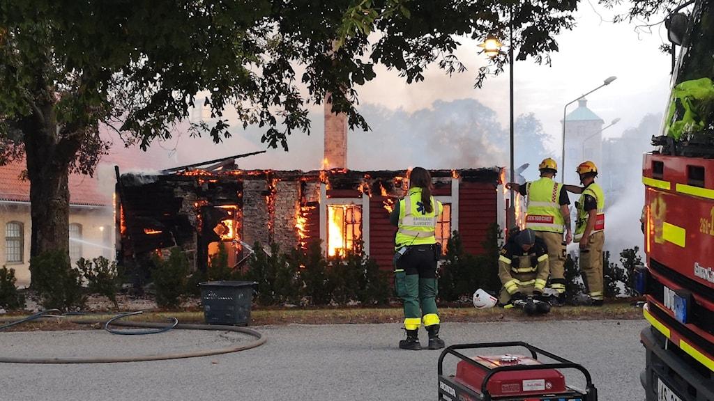 Brand på Alnarps lantbruksuniversitet