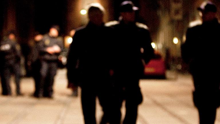 Polis på plats efter gängbråk på Nørrebro i Köpenhamn 2009. Foto: Thomas Borberg/Scanpix