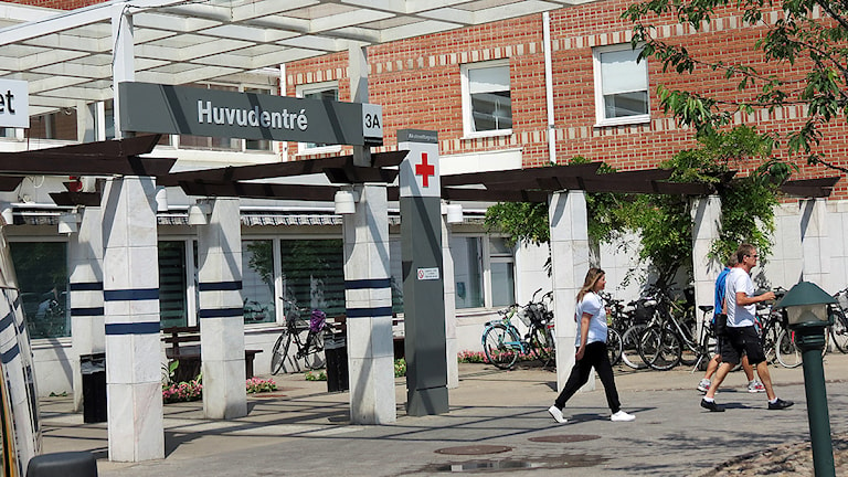 Huvudentrén, Ystads lasarett. Foto: Petra Haupt/Sveriges Radio