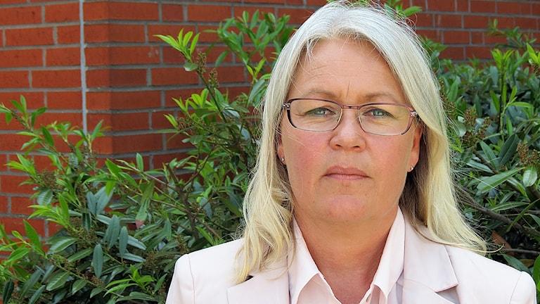 Pia Lundbom, förvaltningschef för Skånevård Kryh, där lasarettet i Ystad ingår. Foto: Petra Haupt/Sveriges Radio