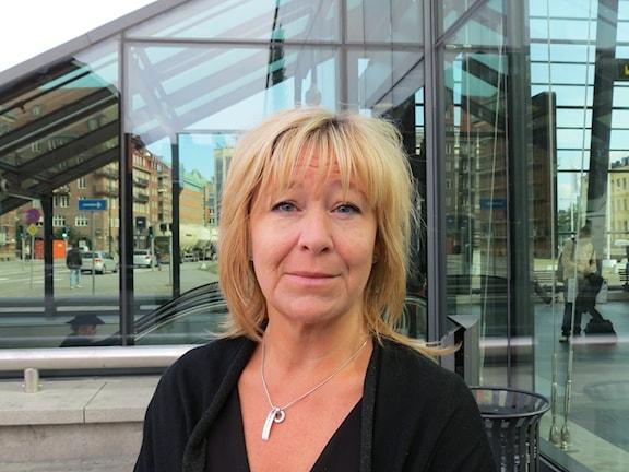 Bilden visar Ulrika Mebius, presschef för Skånetrafiken. Foto: Dajana Kovacevic/Sveriges Radio.
