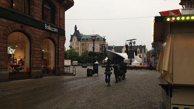 En bild på Stortorget i Malmö. Foto: Susanne Fatah / Sveriges Radio