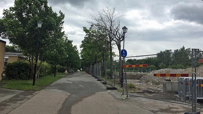 Det finns stora byggplaner för Karlslund i Landskrona. Foto: Nina Sköldqvist/Sveriges Radio.