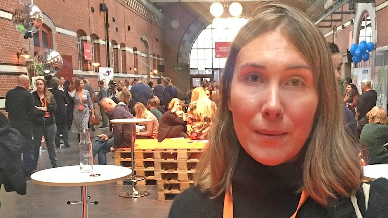 Natassia Fry driver företaget Kompis Sverige. Foto: Daniel Persson/Sveriges Radio.
