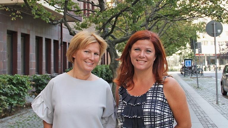 Jeanette Andersson och Karin Ebbinghaus.