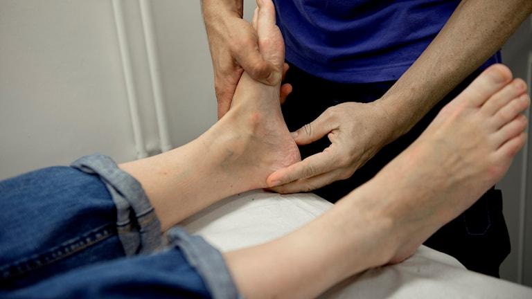 Genrebild fysioterapeut