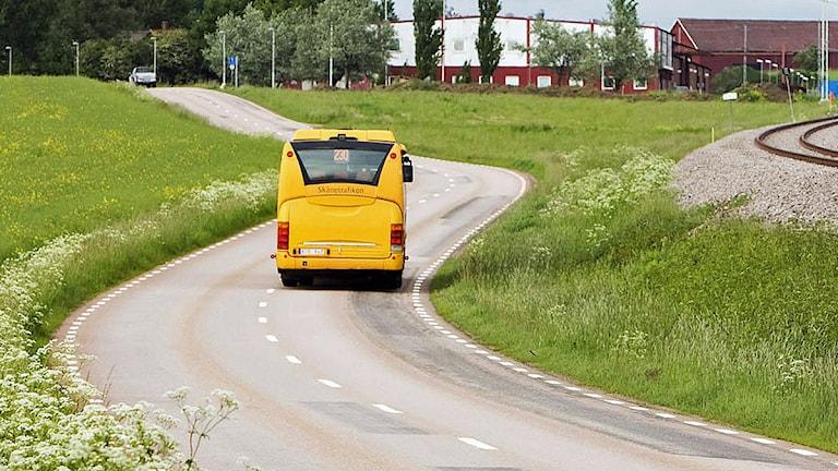Regionbuss på väg. Foto: Kasper Dudzik/Skånetrafiken