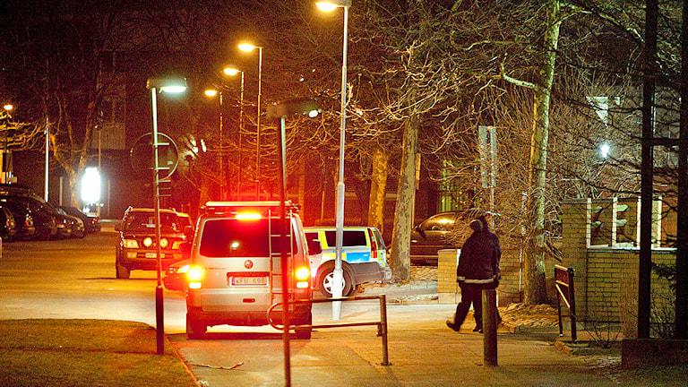 1 februari 2012 sprängdes polisstationen på Eriksfältsgatan i Malmö. Stationen var obemannad och ingen person kom till skada. Foto: Stig-Åke Jönsson/TT