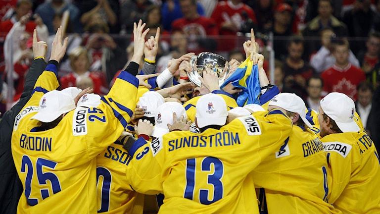 Junior-VM Ishockey svenskt jubel