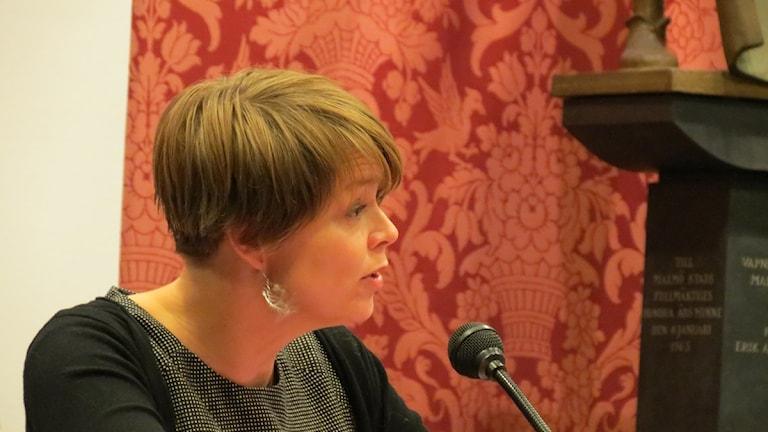 Vi behöver ha en lite mer snabbfotad organisation, säger Katrin Stjernfeldt Jammeh (S). Foto: Anna Bubenko/Sveriges Radio.