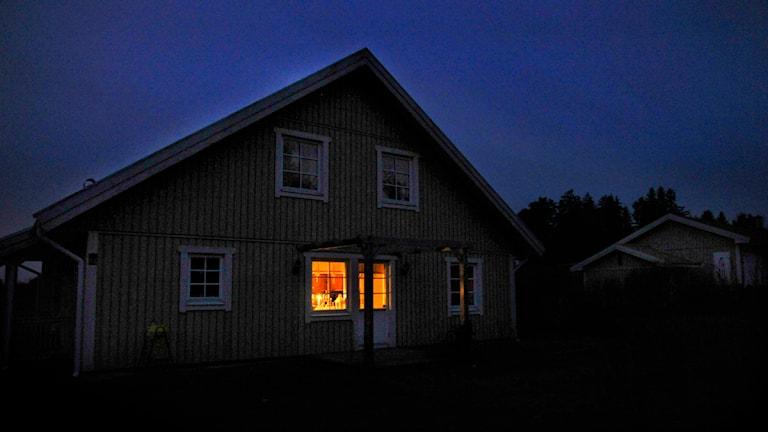 Strömavbrott, här i Knivsta. Foto: Tomas Oneborg/TT