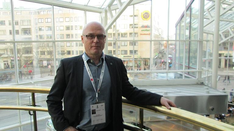 Mikael Haglund, generalsekretere för juniorhockey-VM