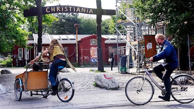 Fristaden Christiania i Köpenhamn. Foto: Jens Dige/TT