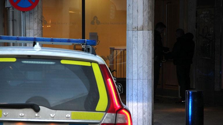 Polisbil. Foto: Lars Ekman/Sveriges Radio