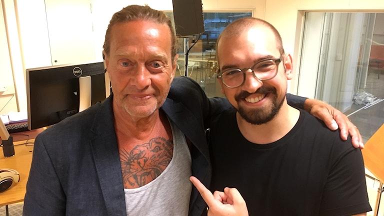 Björn Ranelid tillsammans med Victor Pandurescu.