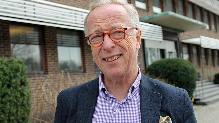 Gunnar Hökmark, (M) EU-politiker på besök i Helsingborg. Foto: Anna Hanspers/Sveriges Radio