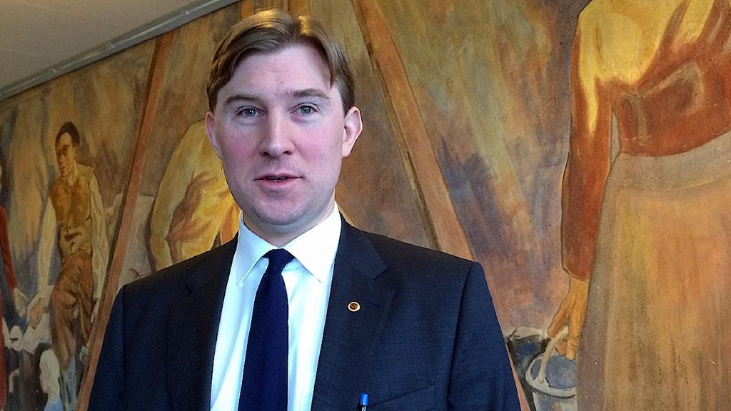 Henrik Fritzon (S), regionstyrelsens ordförande Henrik Fritzon (S).