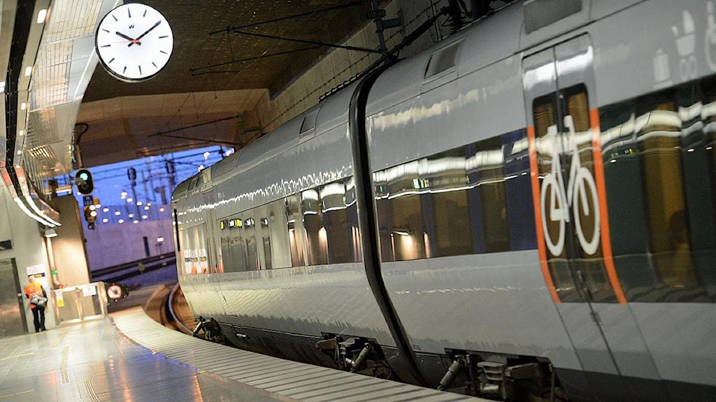 Öresundståg på Malmö C nere i Malmö.