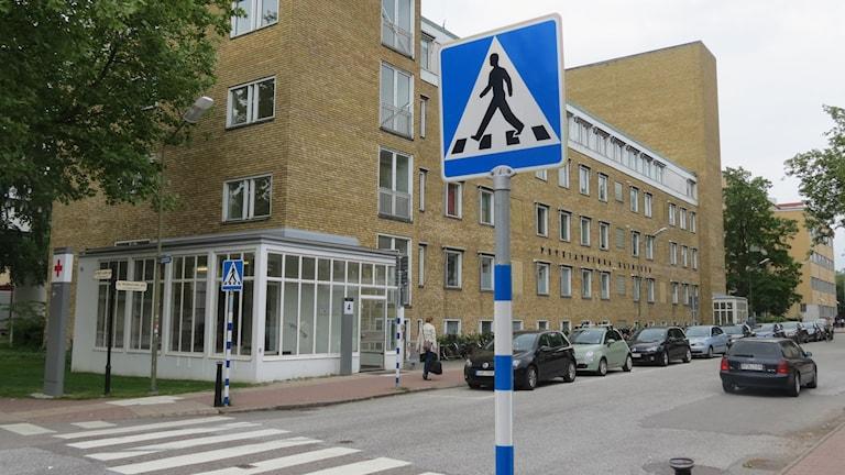 Psykiatriska klinikens hus i Malmö. Foto: Petra Haupt/Sveriges Radio.