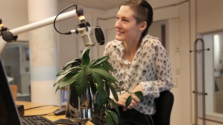 Kristin Warfvinge, växtentusiast Foto: Karin Genrup/Sveriges Radio
