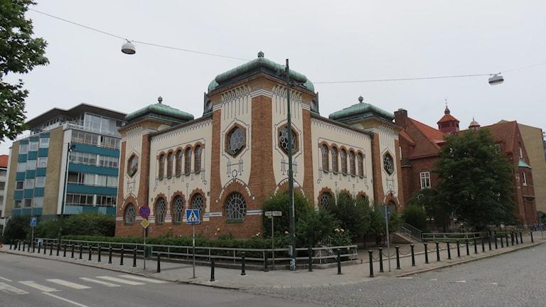 Bilden visar synagogan i Malmö. Foto: Alexander Zeilon Lund/Sveriges Radio.