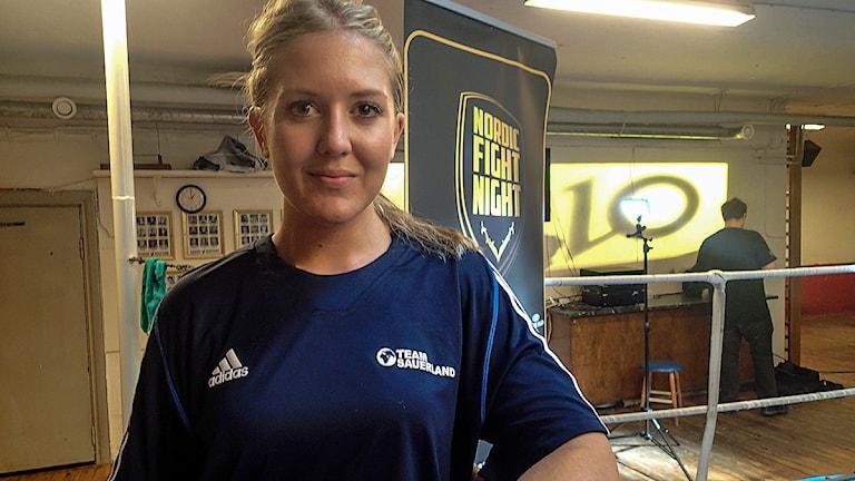 Skånska proffsboxaren Klara Svensson. Foto: Ingela Ahlberg/TT