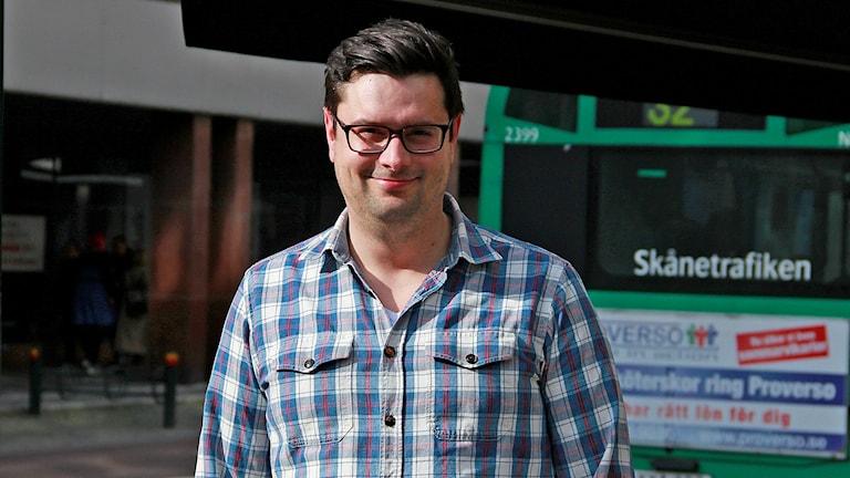 Filip Filipek,  ordförande för Malmö Pride.