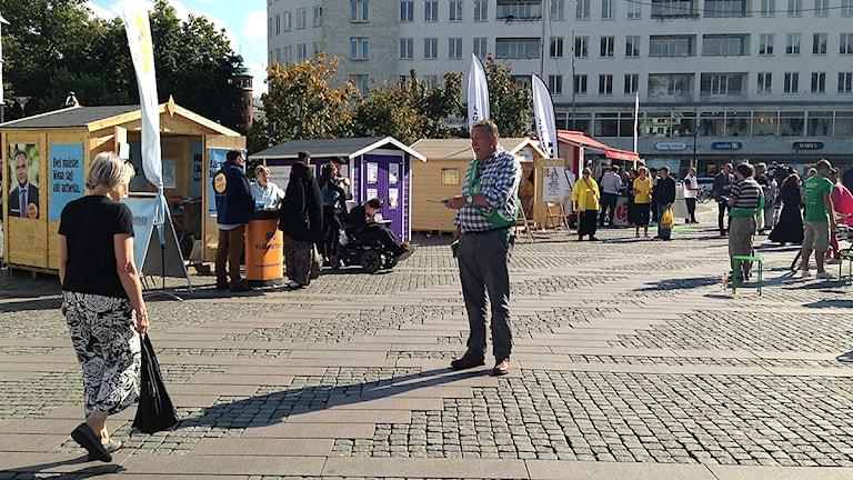 Snart plockas vavlstugorna fram. Foto: Sandra Svensson/Sveriges Radio
