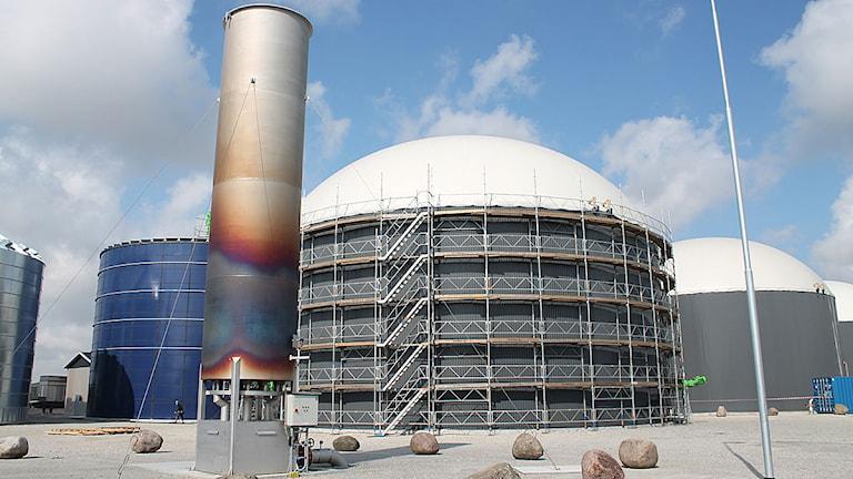 Jordberga biogasanläggning. Foto: Malin Thelin/Sveriges Radio