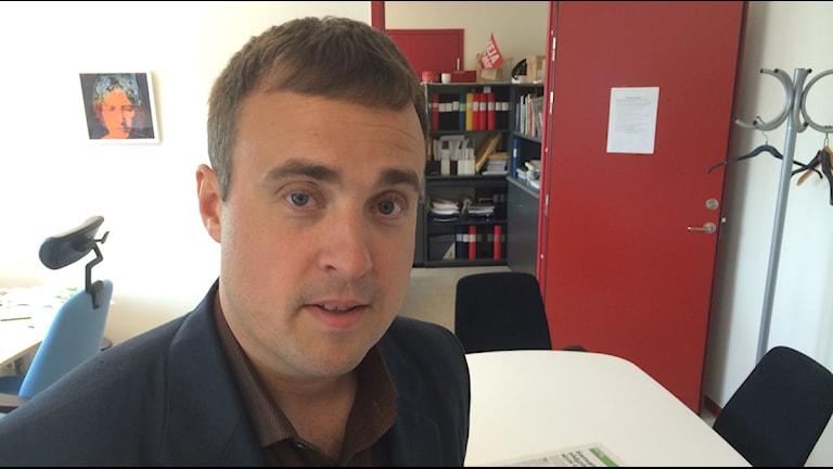 Magnus Olsson, oppositionsråd för sverigedemokraterna. Foto: Dimitri Lennartsson/Sveriges Radio.