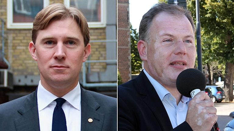 Henrik Fritzon (S), regionråd och Gilbert Tribo (FP), regionråd. Foto: Sveriges Radio