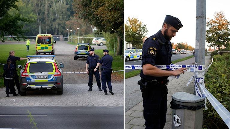 Skurup, Polis, avspärrning