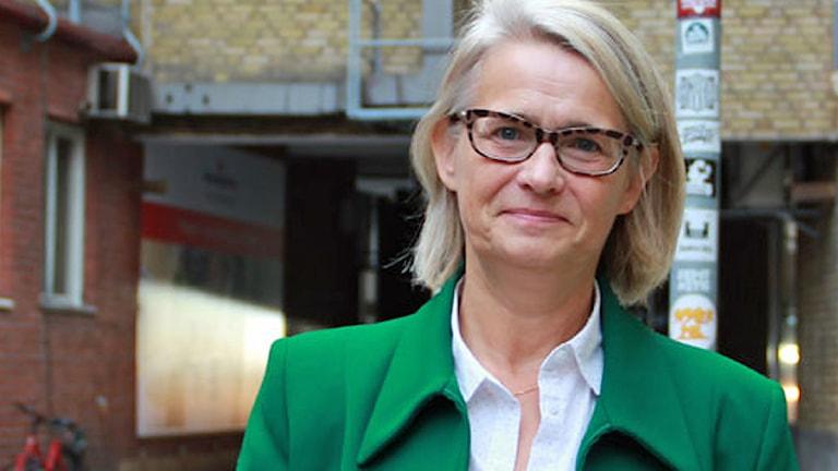 Pia Kinhult (M) Foto: Felicia Frithiof/Sveriges Radio