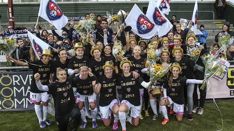 FC Rosengård firar allsvenska guldet