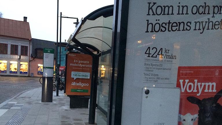 Reklamskyltarna har hamnat på politikernas bord i Lund. Foto: Anna Bubenko/Sveriges Radio
