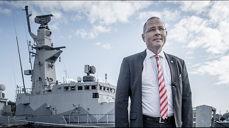 Håkan Buskhe, vd på SaabTechnologies. Foto: Magnus Hjalmarson Neideman/TT