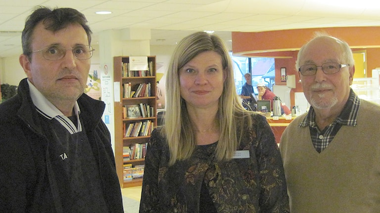 Haxhi Osmanaj, Anna-Carin Mortenlind och Mohamed Hélaoui Foto: Bosse Johansson/Sveriges Radio