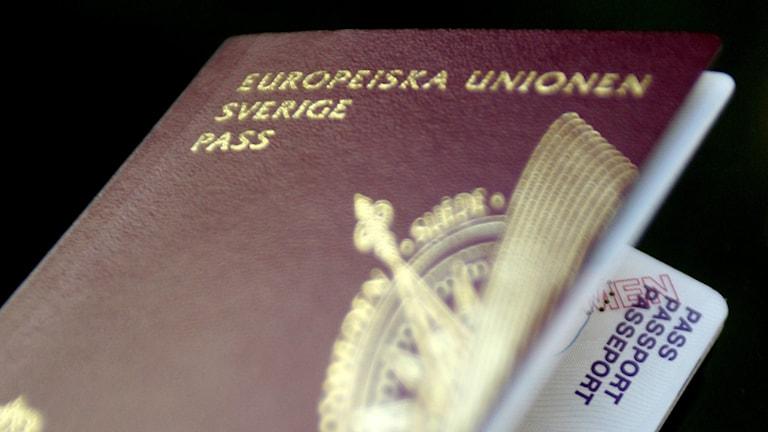 Svenskt pass. Foto: Jessica Gow/TT