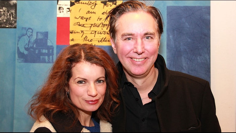Alexandra Coelho Ahndoril och Alexander Ahndoril. Foto: Lars Ekman/Sveriges Radio