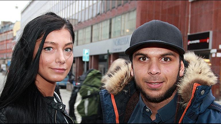 Emma, som fått jobb med hjälp av Josef Kiswani och Uppstart Helsingborg. Foto: Lars Ekman/Sveriges Radio