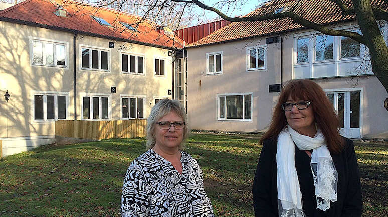 Liselotte Lundberg och Lena Schelin. Foto: Anton Kalm/Sveriges Radio