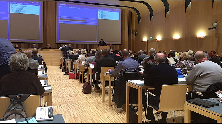 Fullmäktigesalen i Regionhuset i Kristianstad. Foto: Petra Haupt/Sveriges Radio