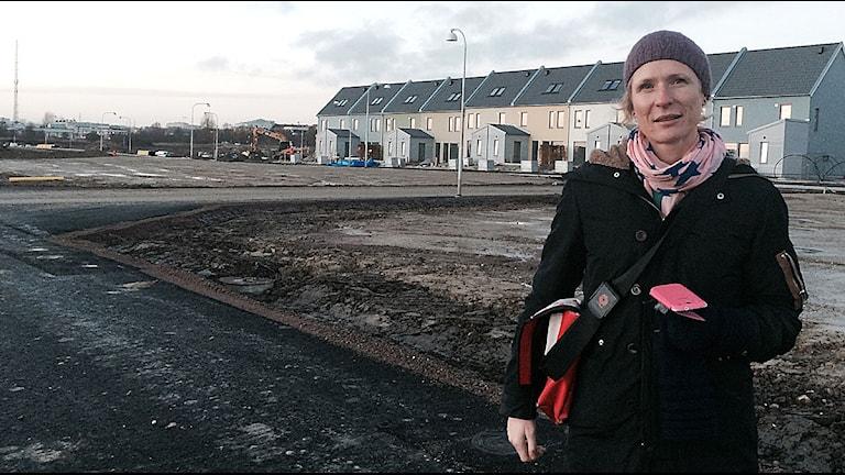 Lena Bengtsson, exploateringsingenjör och projektledare. Foto: Madeleine Fritsch-Lärka/Sveriges Radio