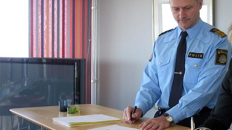 Skånes länspolismästare Jarl Holmström. Foto: Björn Runemark/Sveriges Radio