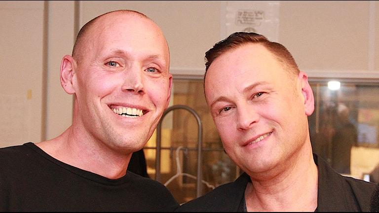 Lars Grönberg och Eric Granebjer. Foto: Lars EKman/Sveriges Radio