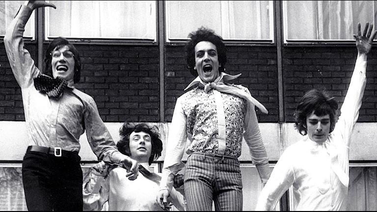 Pink Floyd 1967:  Roger Waters, Nick Mason, Syd Barrett och Richard Wright. Foto: TT